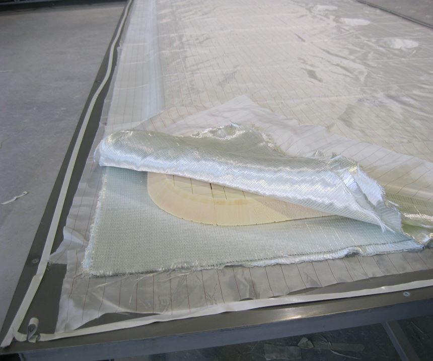 composite floor panel layup