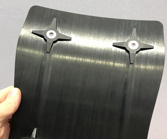 Tri-Mack Plastics overmolded composite, JEC World 2018.