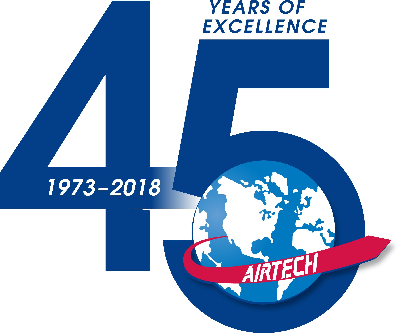 Airtech 45th anniversary logo