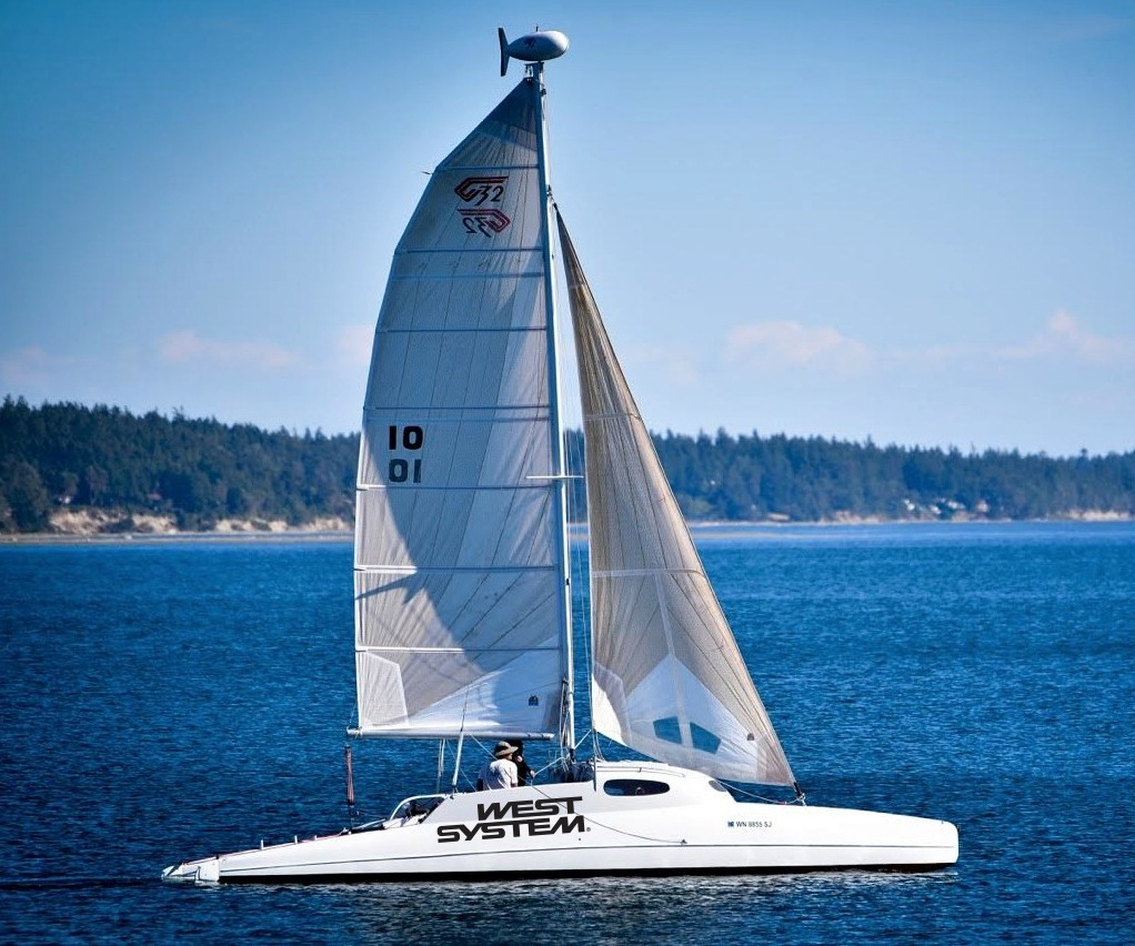 carbon fiber catamaran