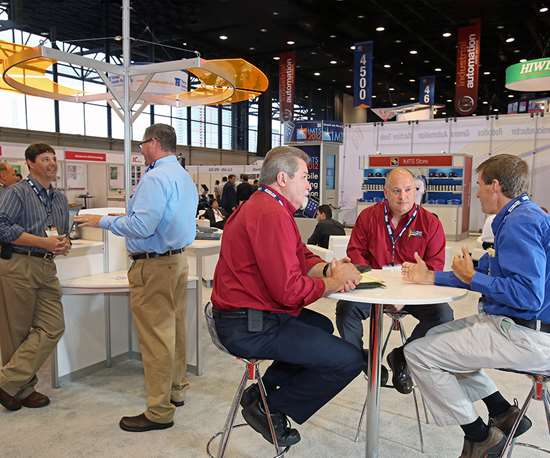 Networking is one of the top reasons manufacturing professionals attend a trade show