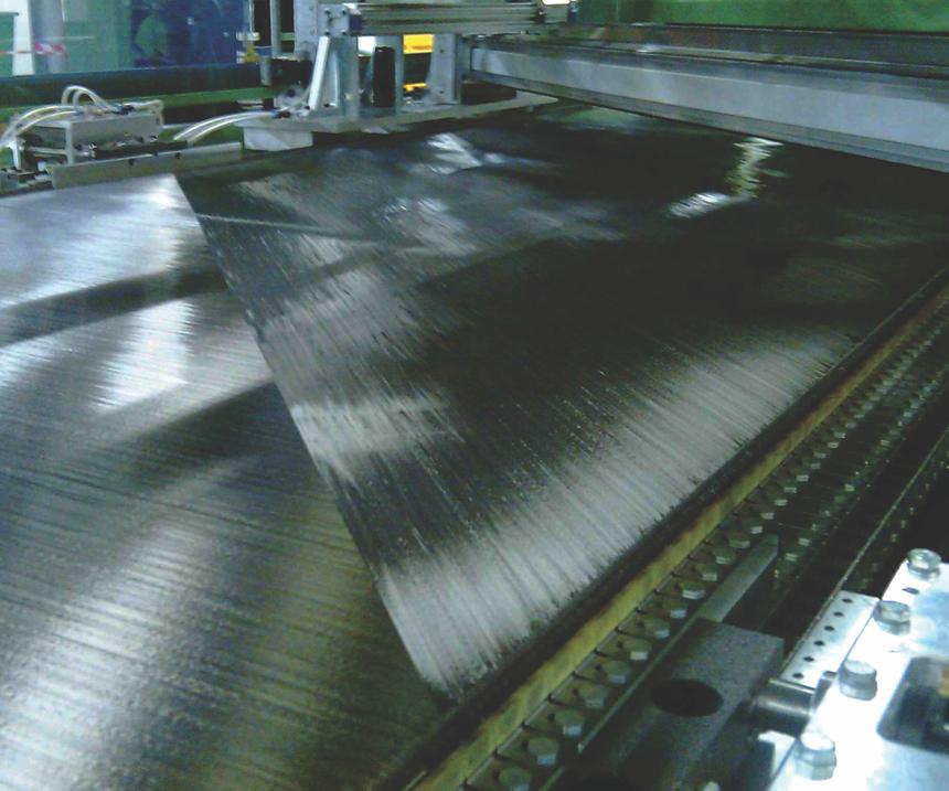 C-PLY fabric manufacture, carbon fiber tows