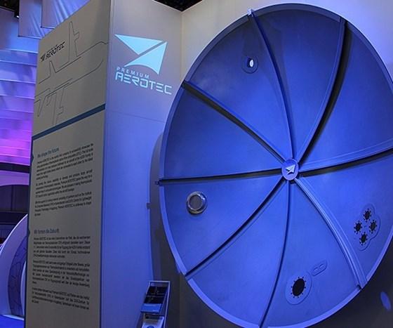 thermoplastic CFRP A320 pressure bulkhead