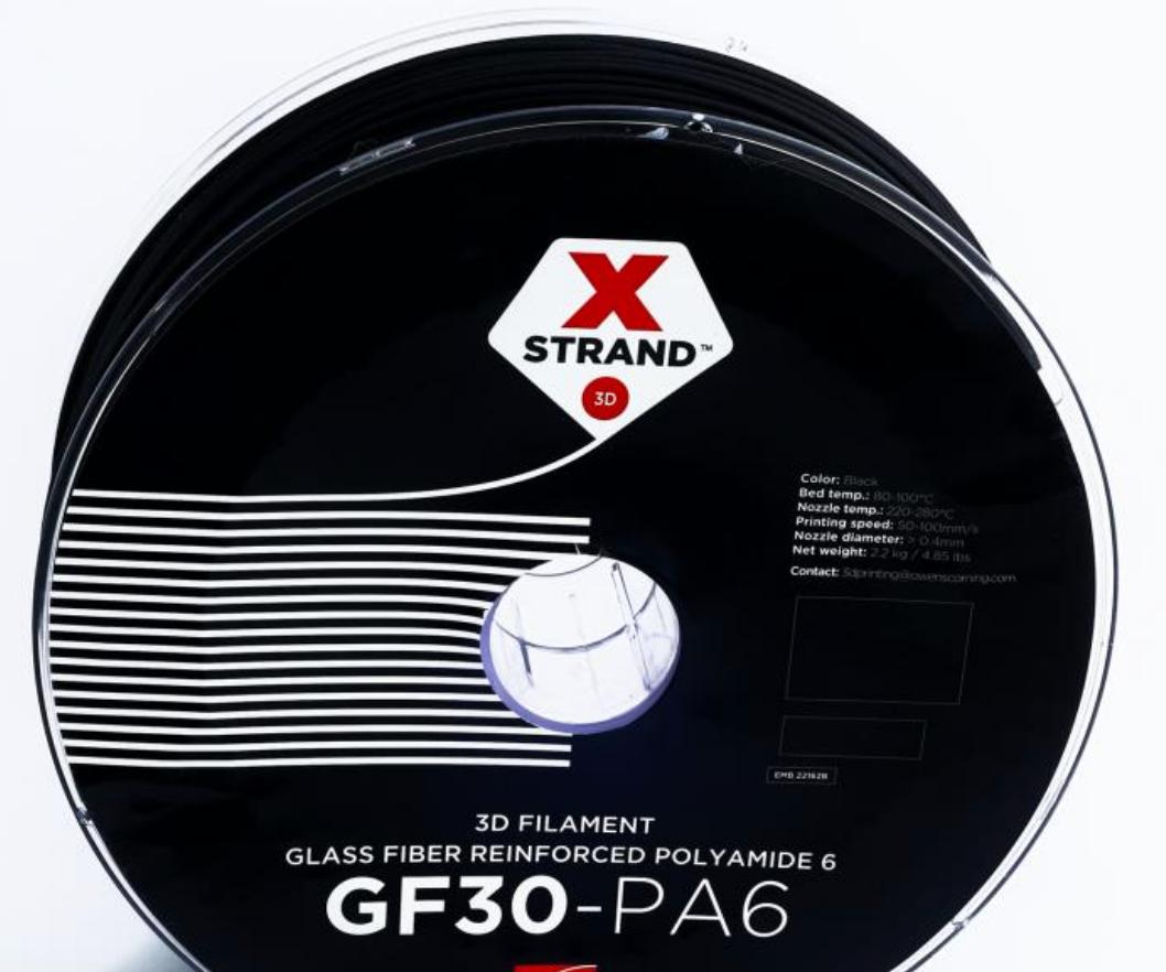 XSTRAND composite filament, 3D printing