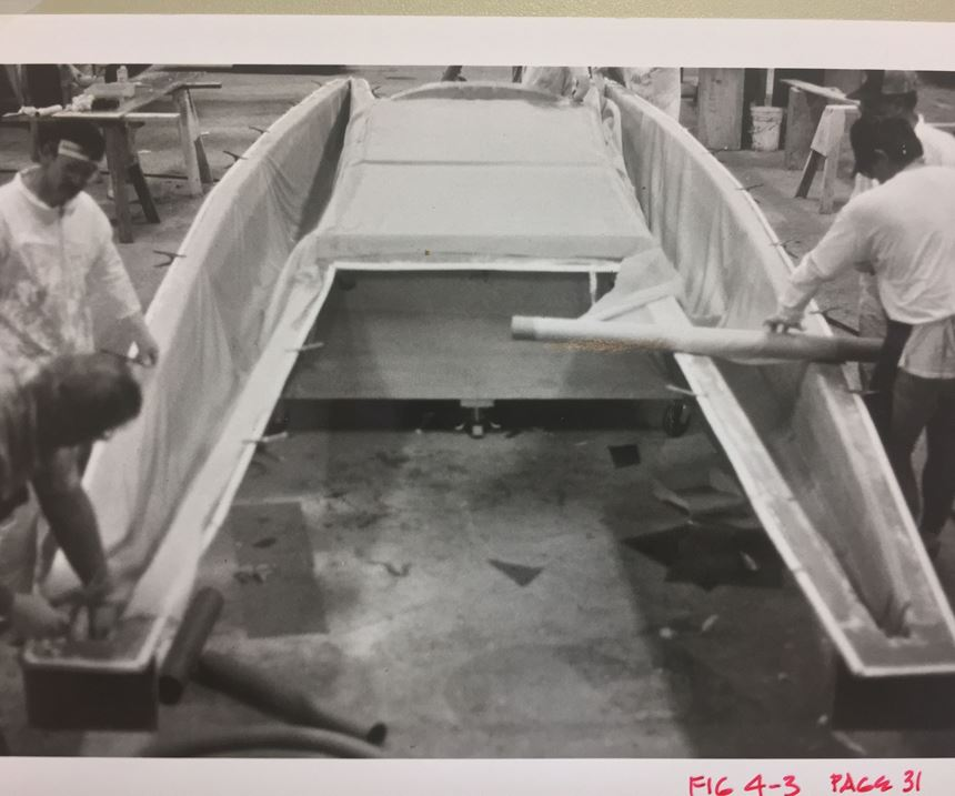 Gougeon G32 catamaran under construction