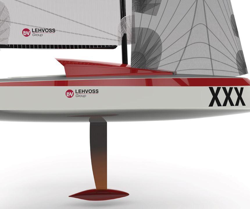 Lehvoss 3D printed sailboat