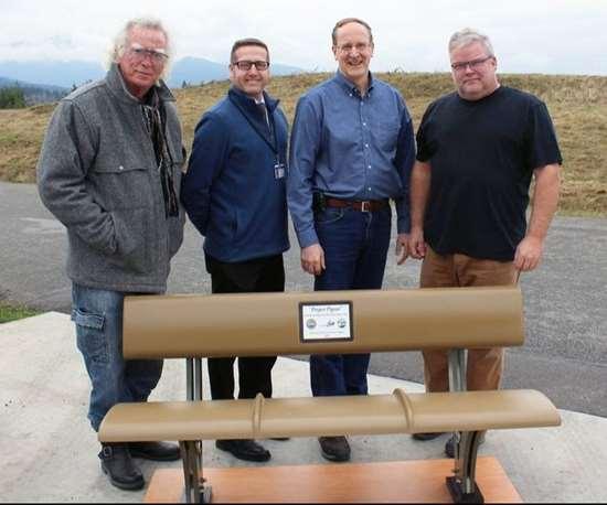 recycled aerospace grade carbon fiber park bench