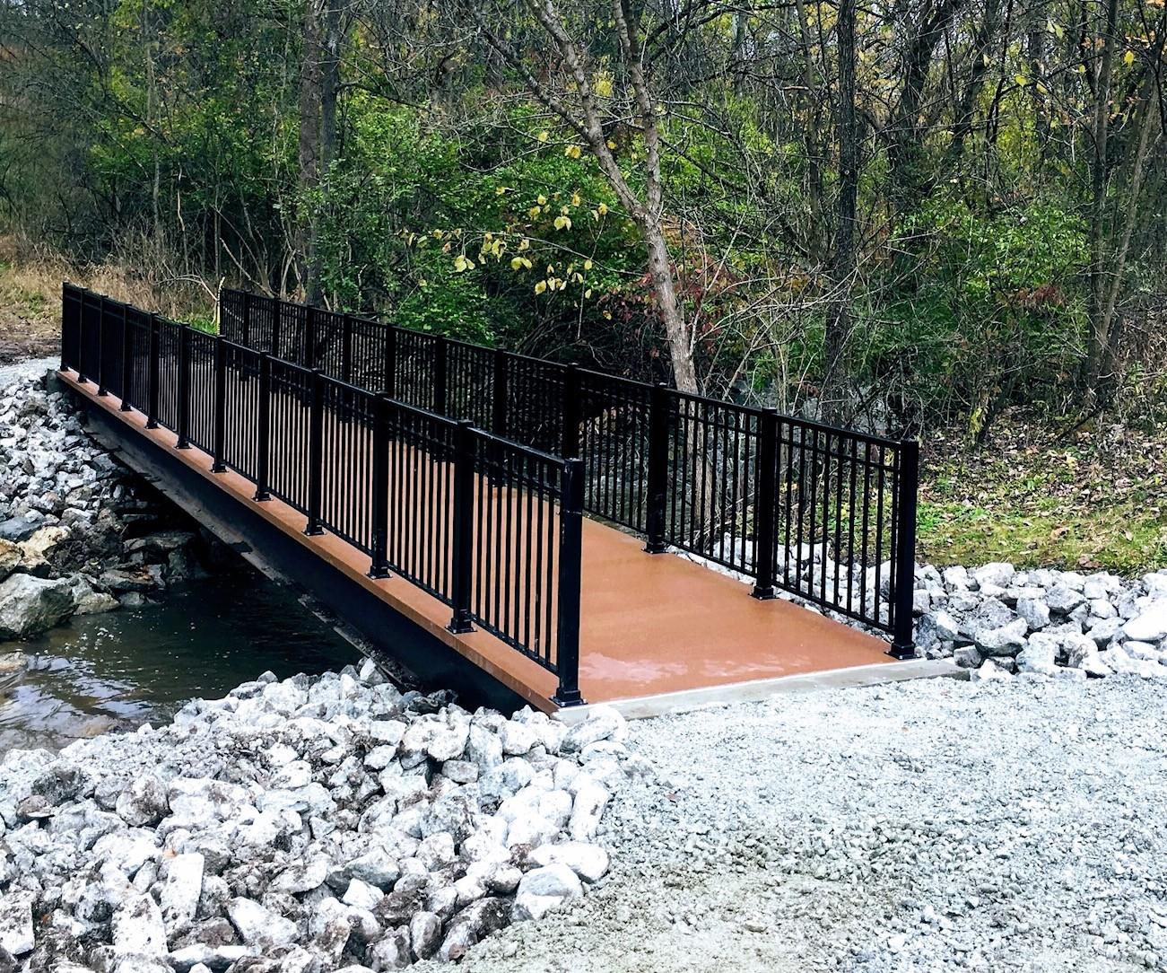 Fiber Reinforced Polymer (FRP) trail bridge