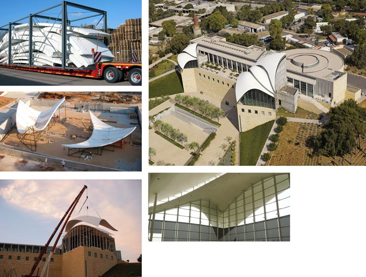 Holland Composites supplied roof structures for Rabin Centre