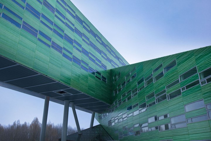 Holland Composites composite RAFICLAD facade for University of Groningen