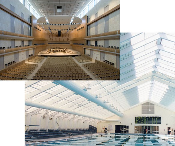 Ashland fire retardant resins used in building interiors and translucent ceiling panels