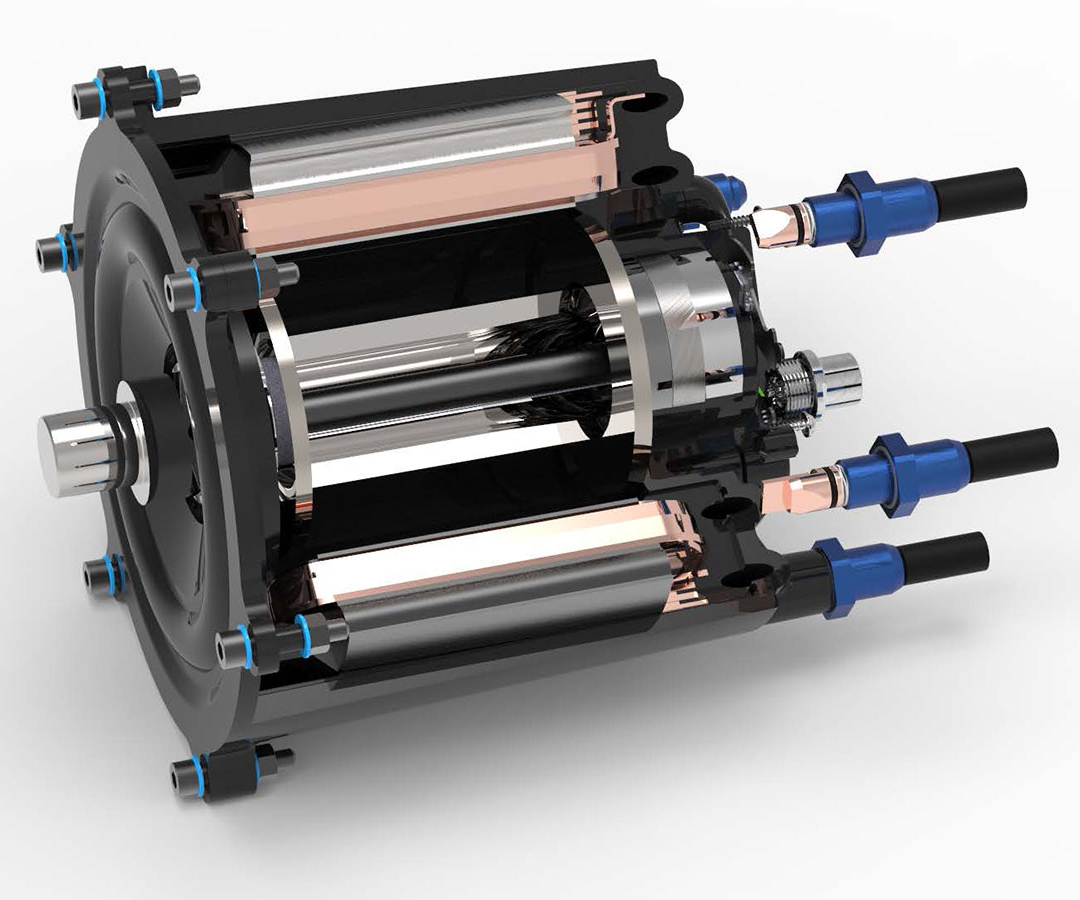 DEmiL project electric motor using fiber-reinforced plastic polymer