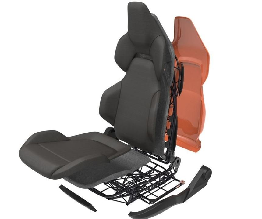 CFRP seat for future air taxis uses XFK in 3D fiber winding with carbon fiber