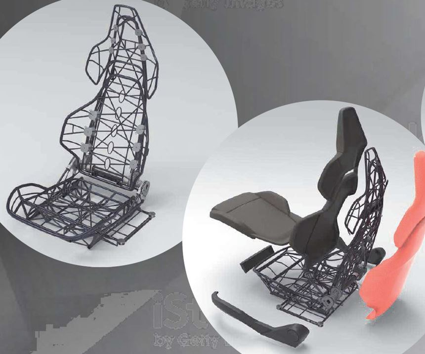 xFK in 3D winding used to create lightweight seat for cars and eVTOLs