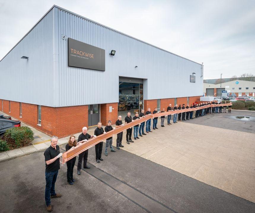 Trackwise 26 meter flexible printed circuit for UAV wing