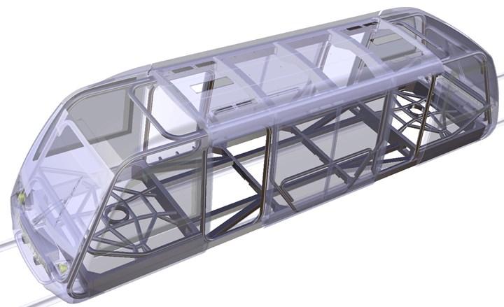 Very Light Rail demo vehicle uses lightweight CFRP tube chassis