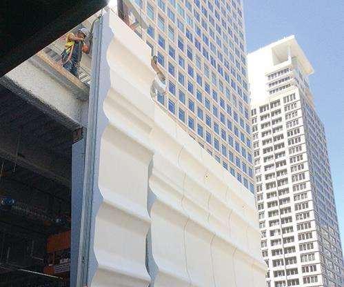 SFMOMA composite facade uses Ashland Modar resin and Polynt FIREBLOCK gelcoat