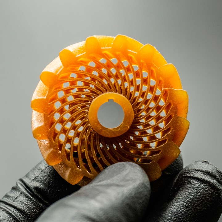 Glass fiber-reinforced part 3D printed by Fortify using its Fluxprint technology