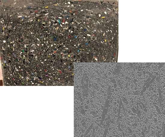 Plastic and ceramic bi-phasic composites illustrate new definition of composite