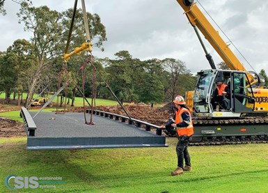 SIS and FiberCore Europe install FRP composite bridge near Sydney