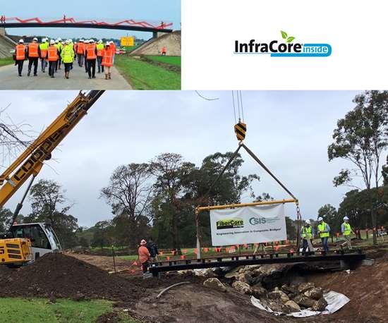 SIS and FiberCore Europe partner to build FRP bridges in Australia