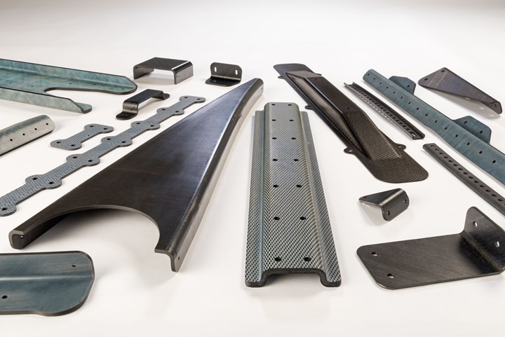 ATC Manufacturing thermoplastic composite ribs, brackets and stiffeners