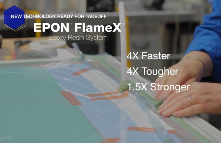 Hexion FlameX 2-part epoxy resin for infusion and RTM of FR composites