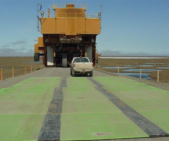 FRP composite rig mats produced by Canadian Mat Systems
