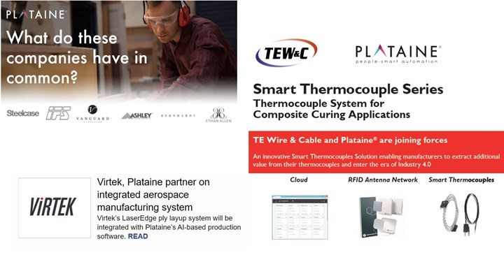 Plataine software for Composites 4.0 production benefits from extensive partnerships