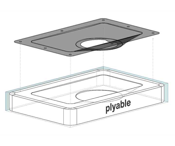Plyable automated composite tooling