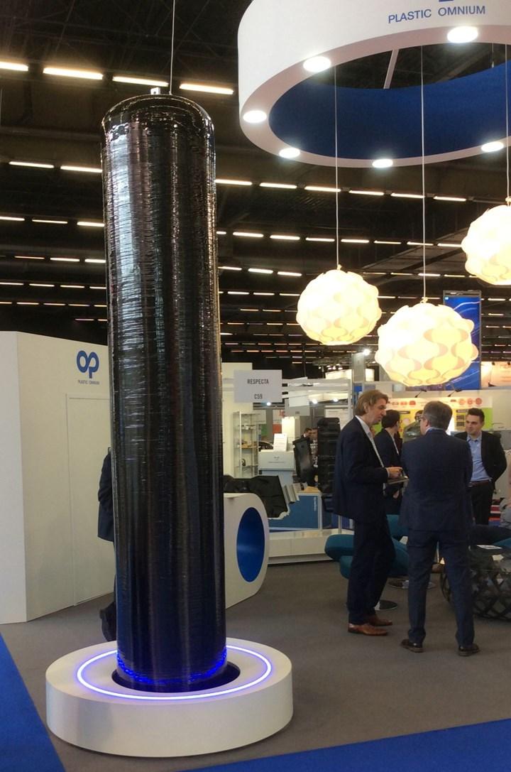 Plastic Omnium carbon fiber composite tanks for hydrogen storage