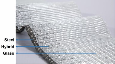 FAUSST glass fiber and steel fiber hybrid fabric