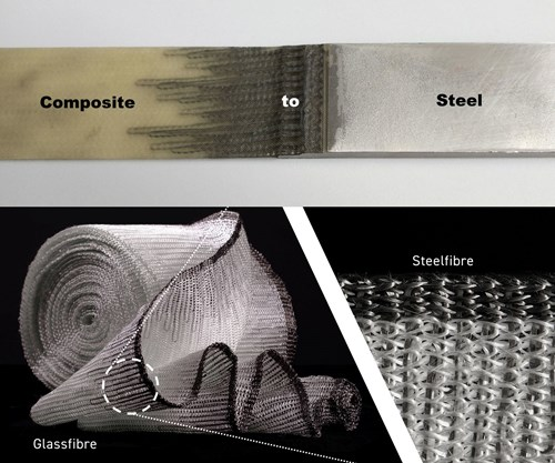 Connecting composites to steel