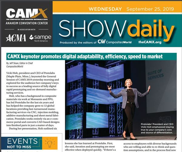 Download today's news from CAMX: Wednesday, Sept. 25 image