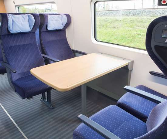 Composite rail car floors in Deutsche Bahn's ICE trains use SAERTEX LEO SYSTEM