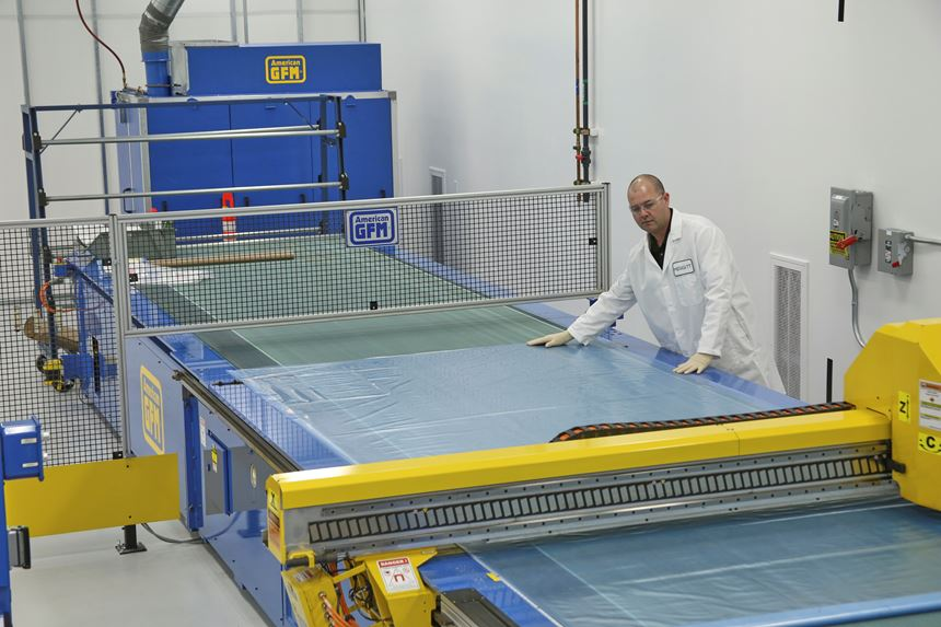 Meggitt Polymers & Composites cutting table