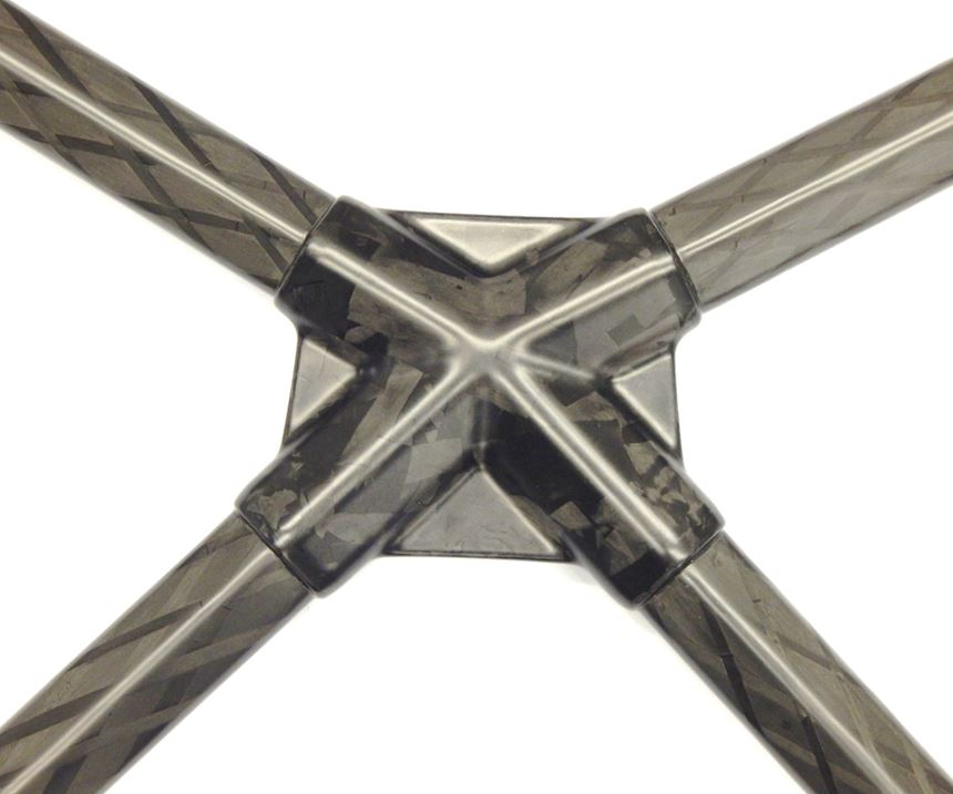 carbon fiber automotive composite engine bay x-brace