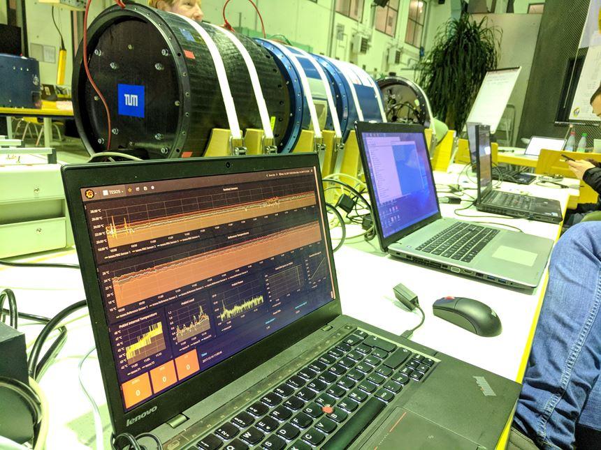 payload testing of carbon fiber-reinforced plastic rocket module