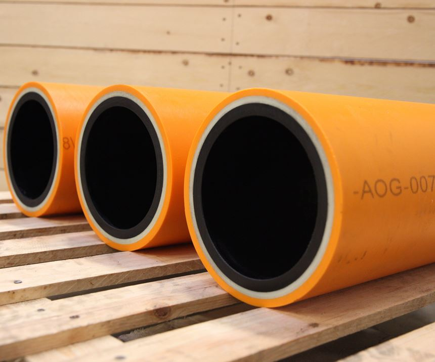 carbon fiber / polyvinylidene difluoride thermoplastic composite pipes