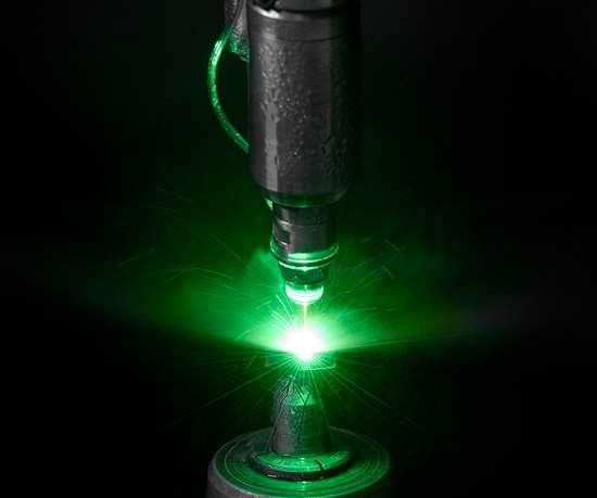 laser ablation via waterjet