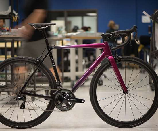 HIA Velo's Alfa bicycle incorporates carbon and Innegra.