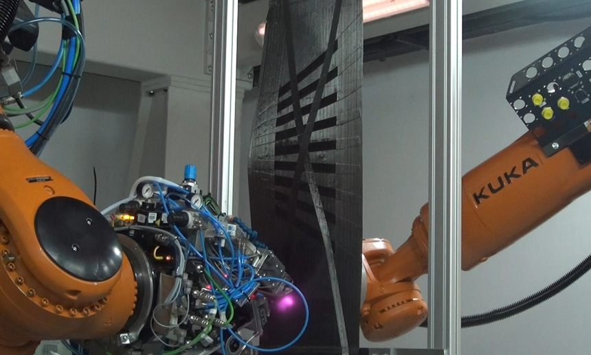 Mikrosam: Multi-Robot System for Automated Tool-less Layup of Thermoplastic UD Tapes