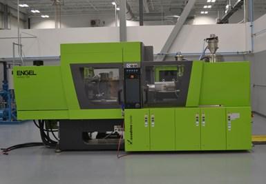 Engel injection molding machine for PEEK hybrid overmolding