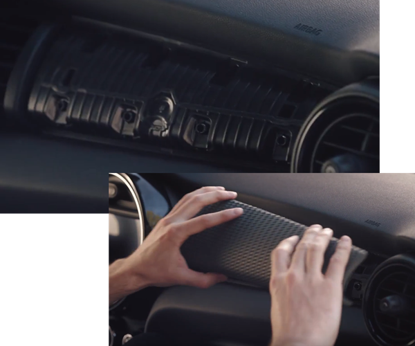 BMW ball and clip fastening system in MINI Yours Customised 2019 program