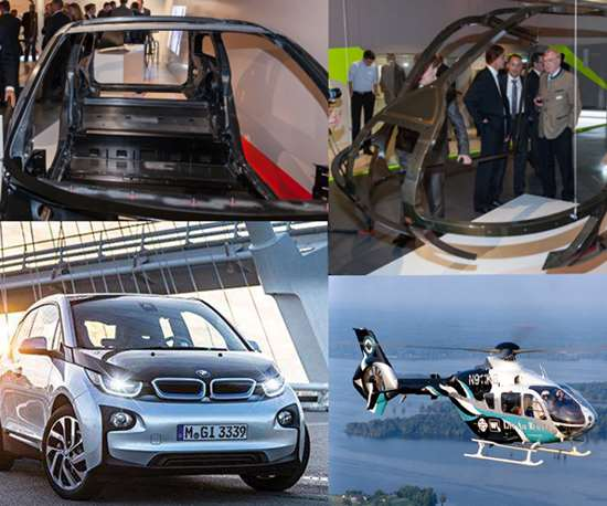 CFRP frames used in BMW i3 and Airbus Helicopters EC 135