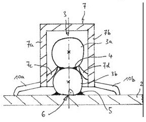 BMW clip and ball fastening drawing patent DE 10 2013 214 269 B3