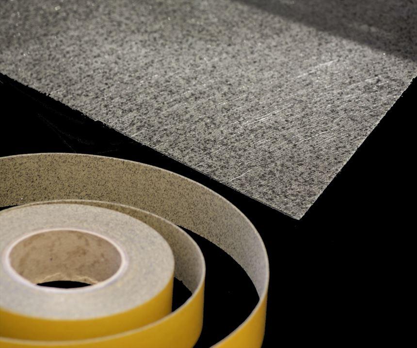Tecnofire nonwoven mat and slit tape