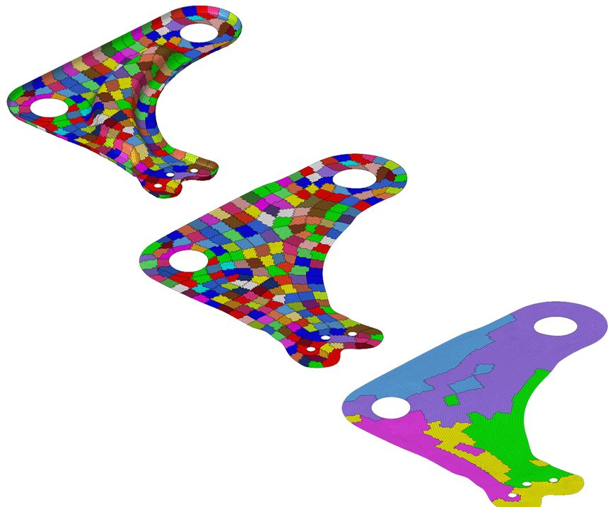composite design simulation for thermoplastic parts