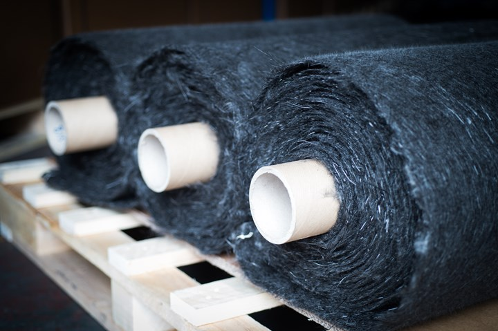 recycled carbon fiber nonwoven mats