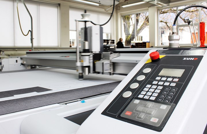 Zünd digital prepreg cutting system